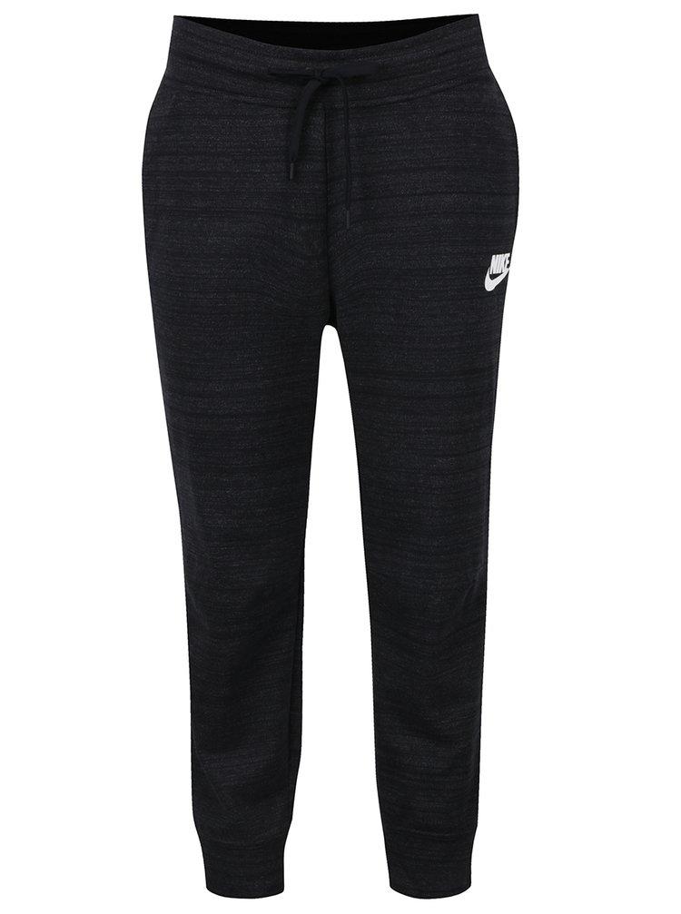 Pantaloni sport negru melanj pentru femei Nike Sportswear Advance 15