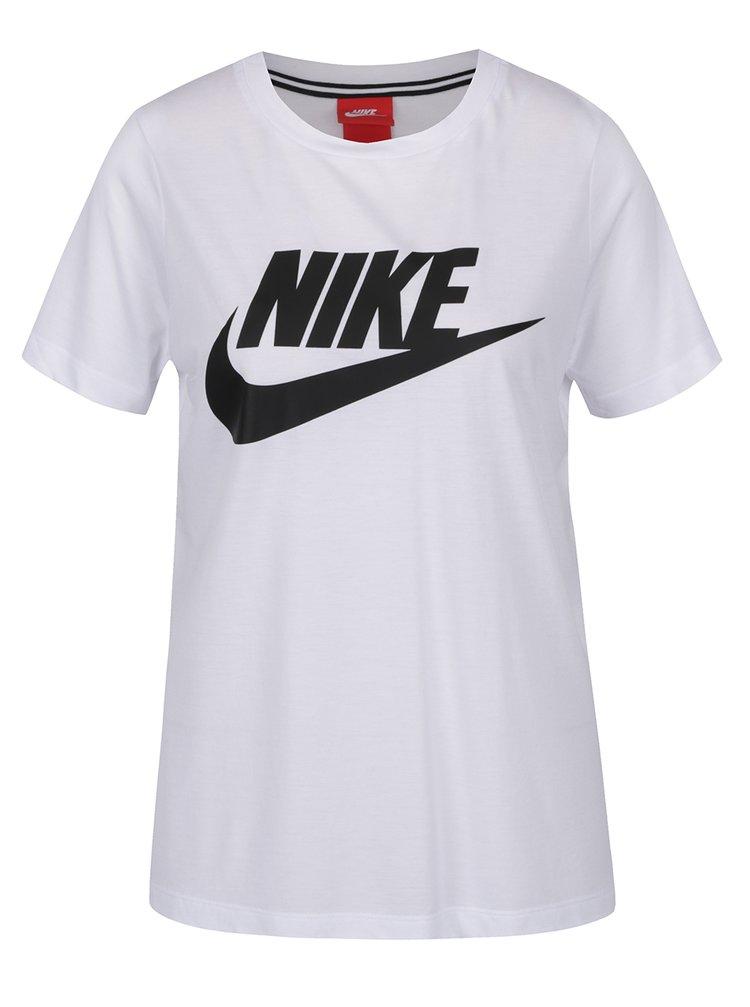 Tricou alb cu logo Nike pentru femei