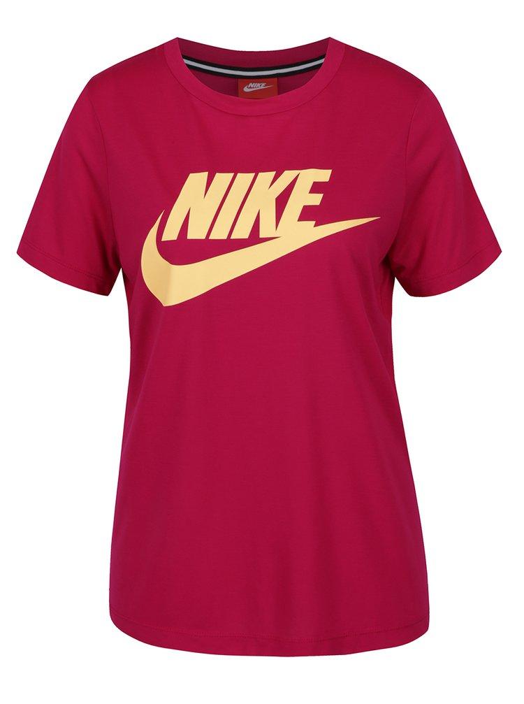 Růžové dámské tričko s potiskem Nike Sportswear Essential