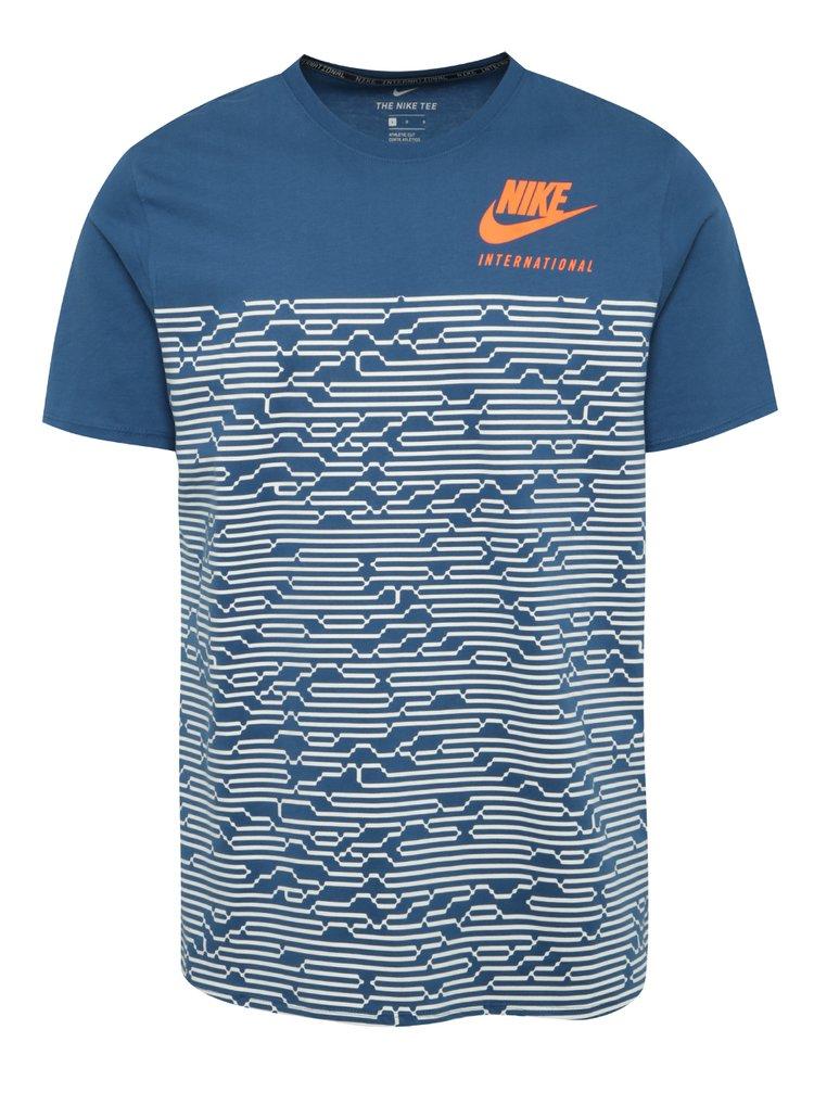 Tricou albastru & alb Nike International pentru bărbați