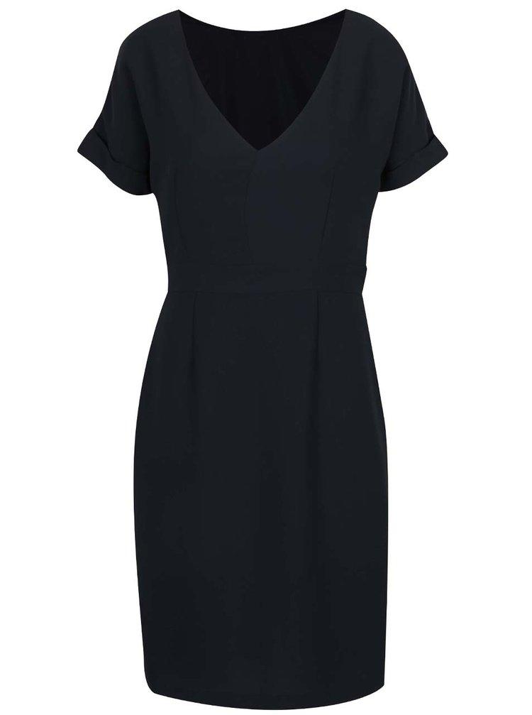 Tmavě modré šaty s krátkým rukávem Selected Femme New Smile