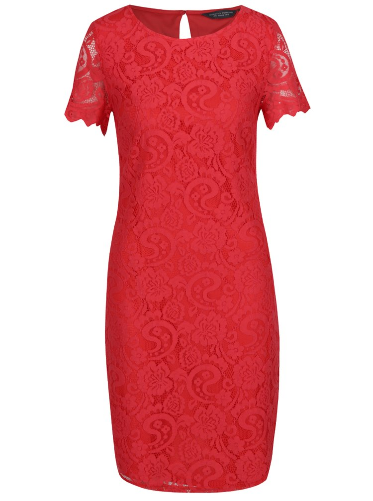 Rochie roșie din dantelă Dorothy Perkins Tall
