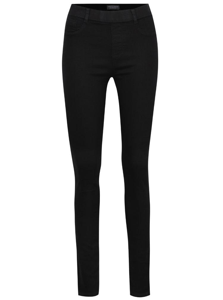 Černé ultra soft jeggins s vysokým pasem Dorothy Perkins Tall