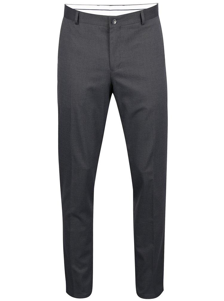 Tmavě šedé formální kalhoty Selected Homme Mathsaul