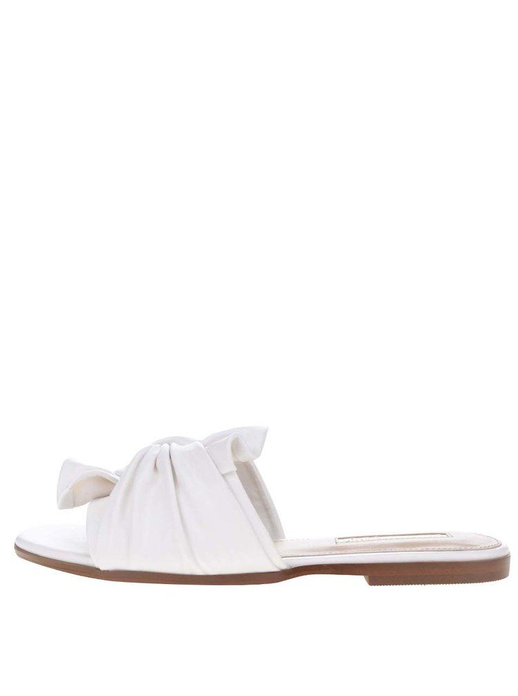 Krémové pantofle s uzlíkem Miss Selfridge