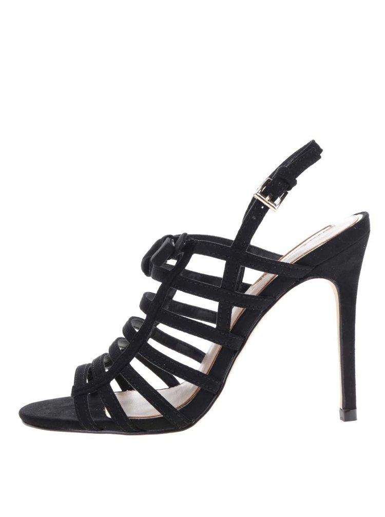 Sandale negre Miss Selfridge cu barete incrucisate