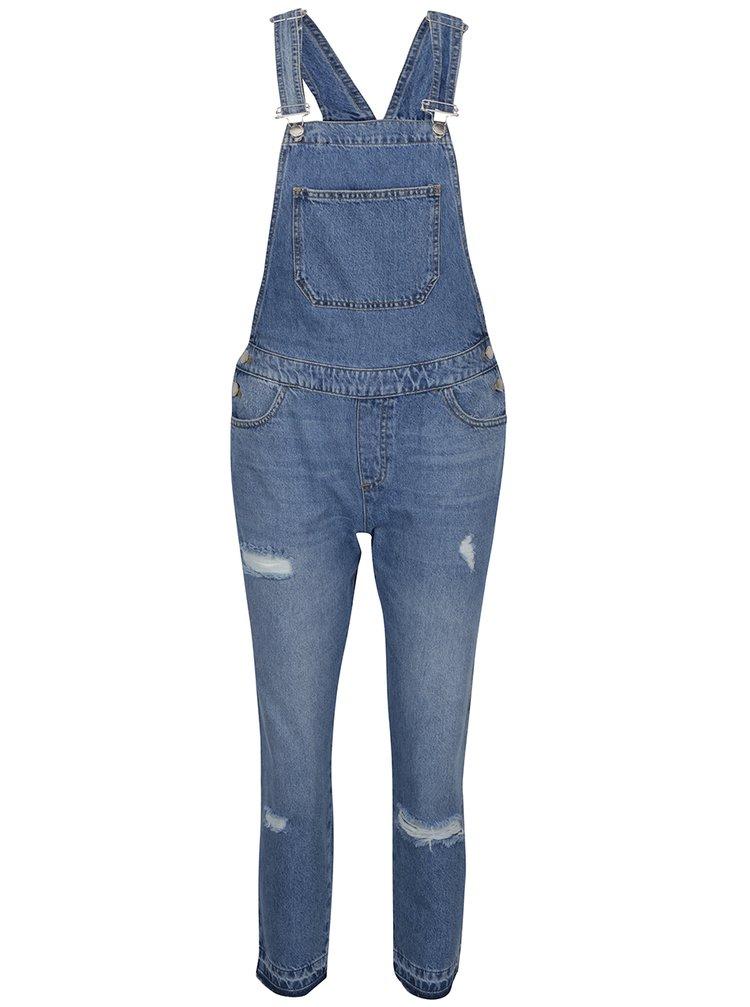 Modré džínové lacláče s potrhaným efektem Miss Selfridge