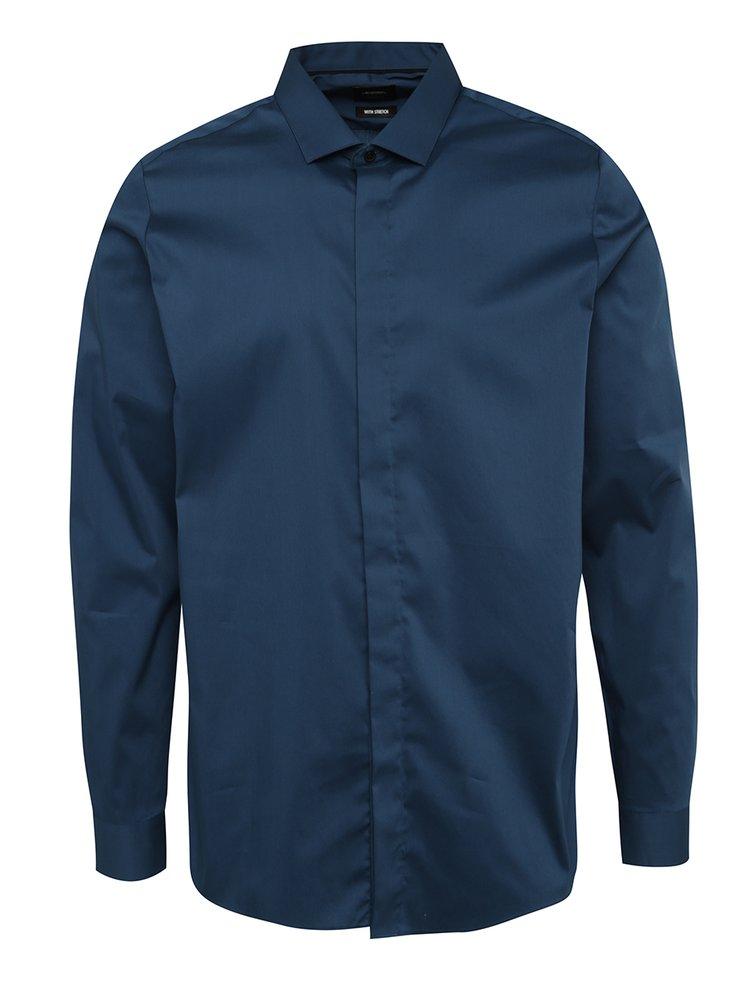 Cămașă albastru skinny fit Burton Menswear London