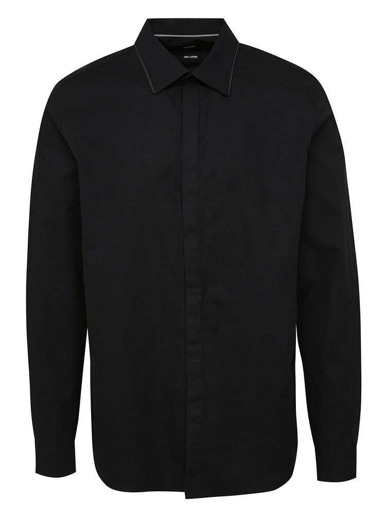 Cămașă slim fit gri&negru Burton Menswear London