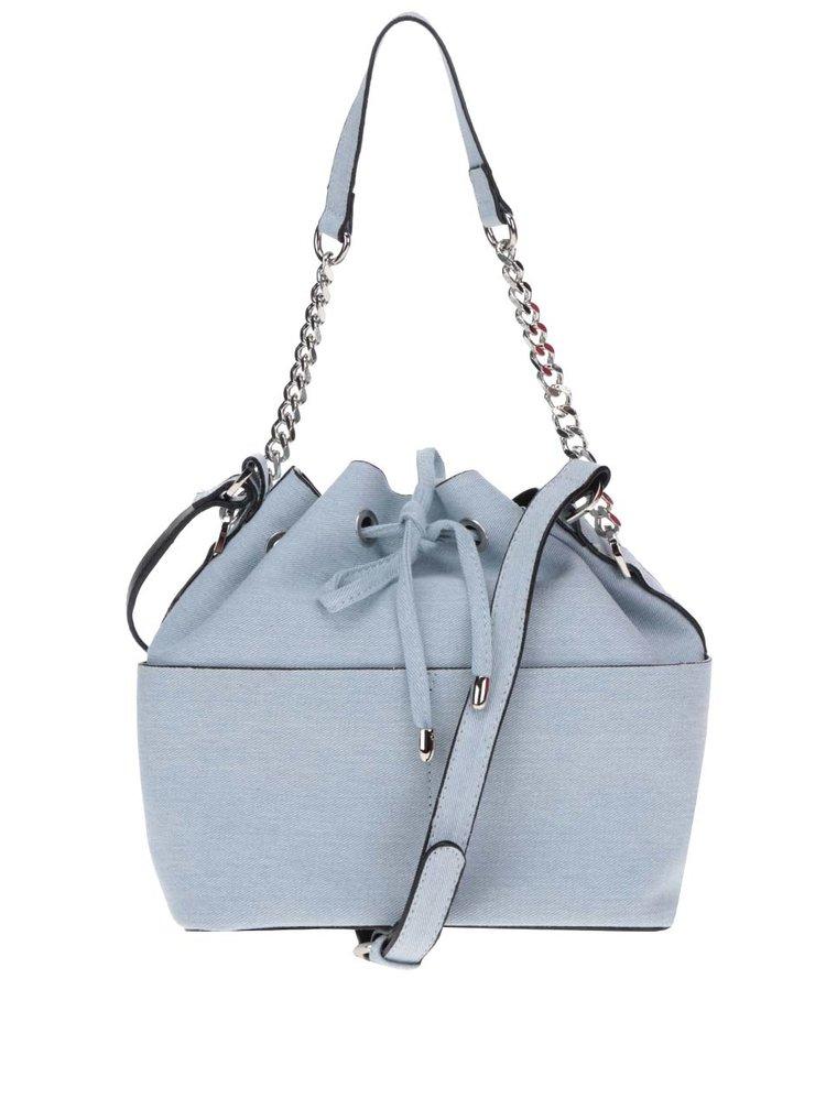Světle modrá crossbody kabelka Miss Selfridge