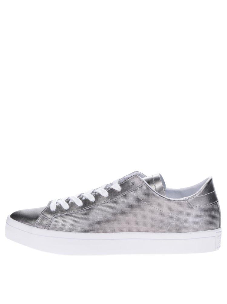 Pantofi sport argintii adidas Originals Court Vantage