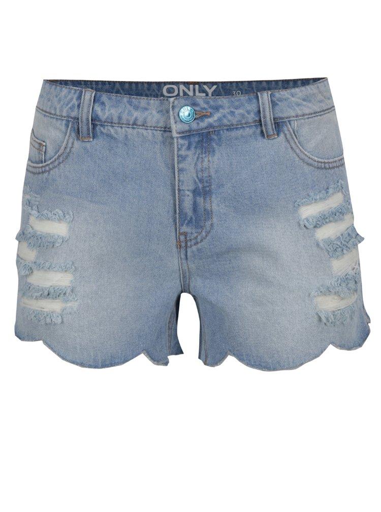 Pantaloni scurți albaștri ONLY Carmen din denim
