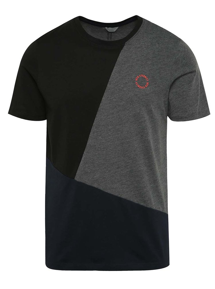 Tricou negru&gri Jack & Jones Sup