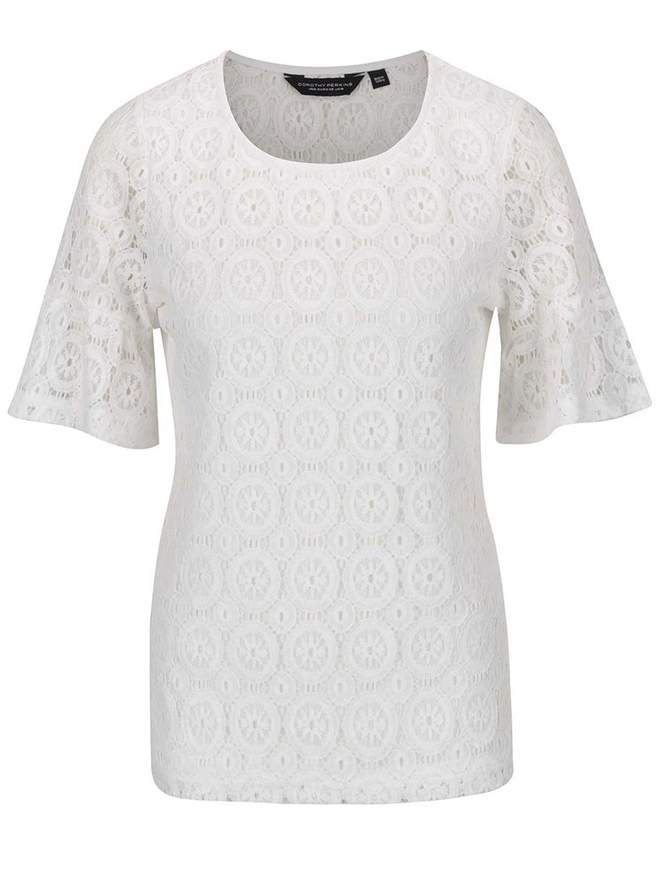 Bluză albă Dorothy Perkins din dantelă