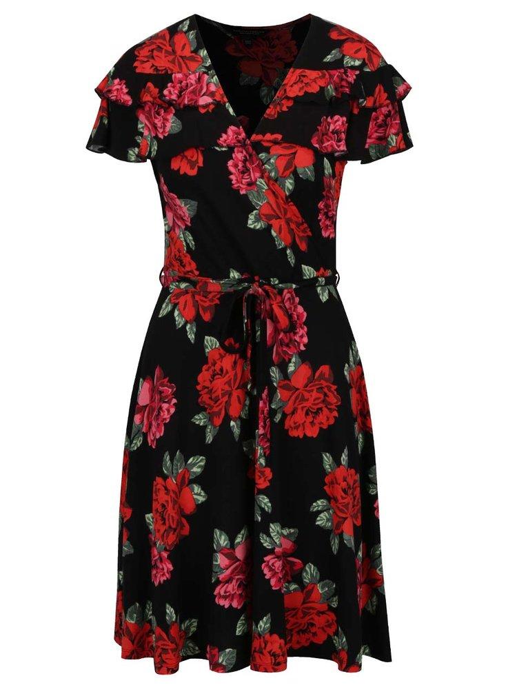 Rochie neagră Dorothy Perkins cu imprimeu floral