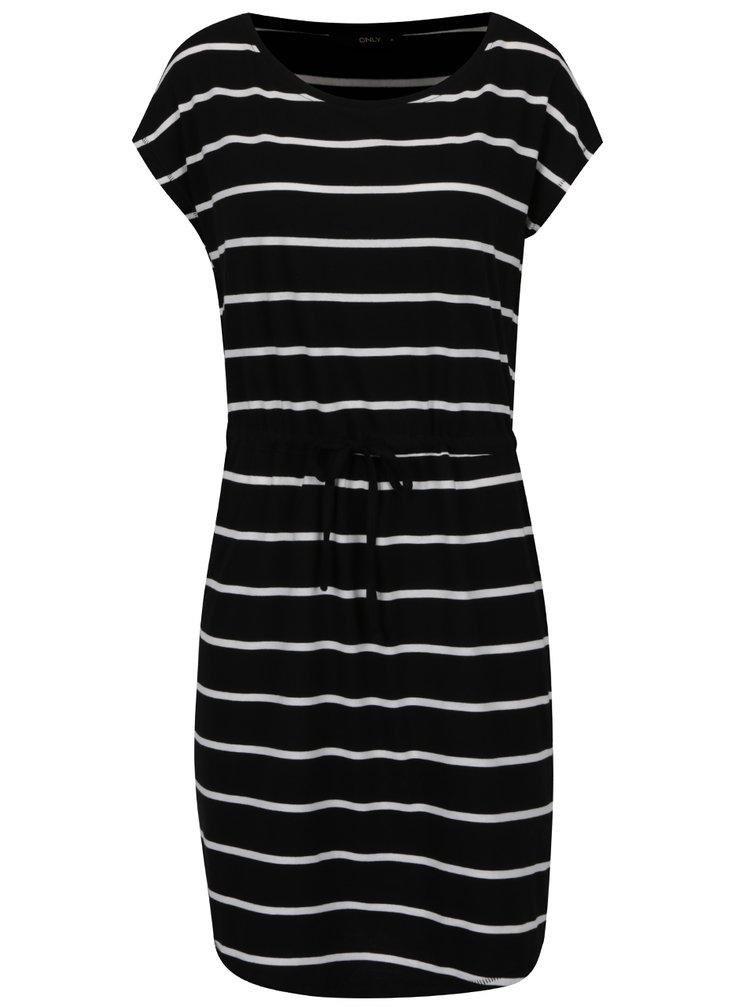 Čierne pruhované šaty ONLY May