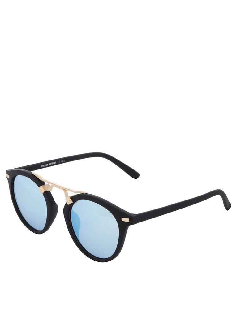 Černé sluneční brýle s modrými skly TALLY WEiJL