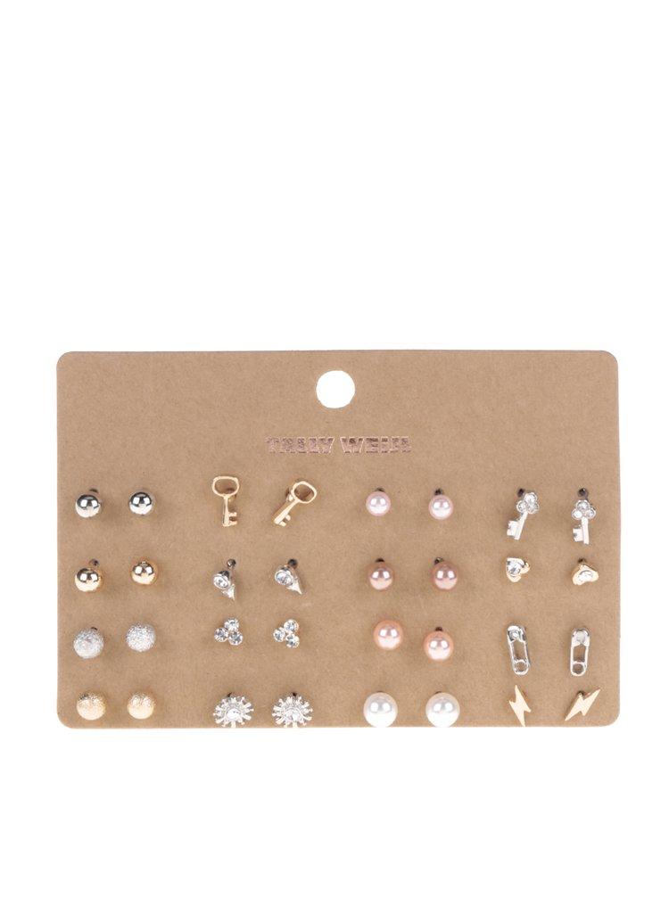 Set cu 16 perechi de cercei aurii și argintii TALLY WEiJL
