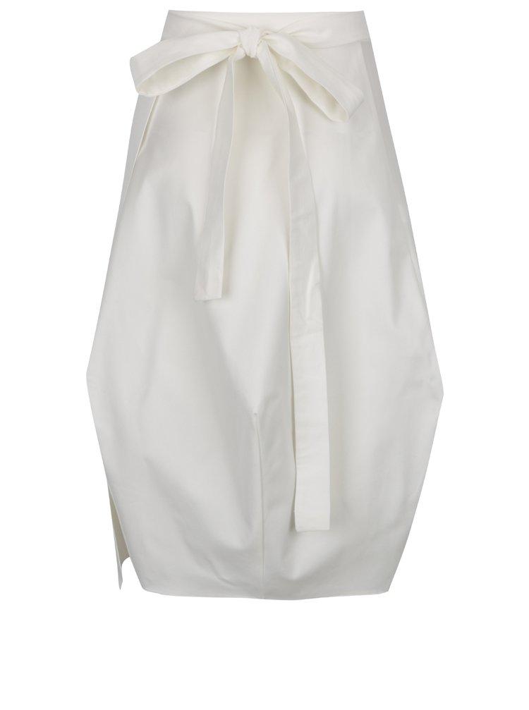 Fusta alb fildes Bianca Popp cu croi petrecut si amplu
