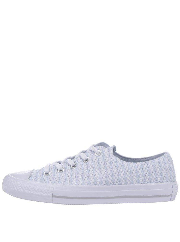 Tenisi albi Converse All Star Gemma cu model bleu