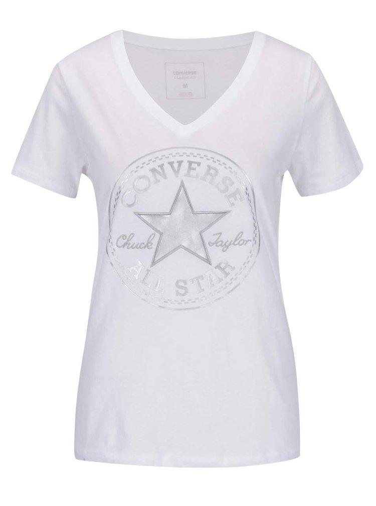 Bílé dámské tričko s potiskem Converse