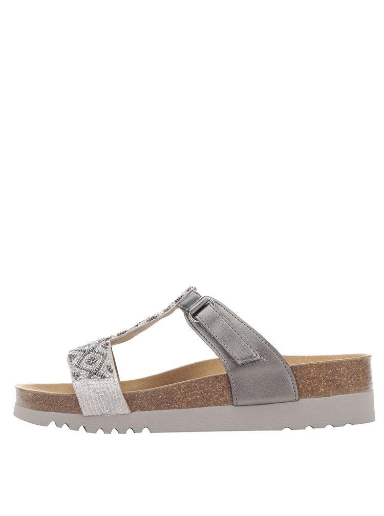 Dámské zdravotní pantofle ve stříbrné barvě Scholl Astrelle