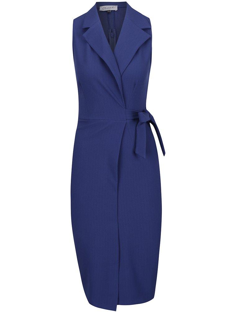 Rochie albastră Closet cu croi parte peste parte