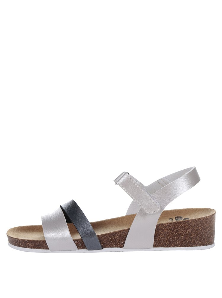 Sandale negru & argintiu Scholl Adalia