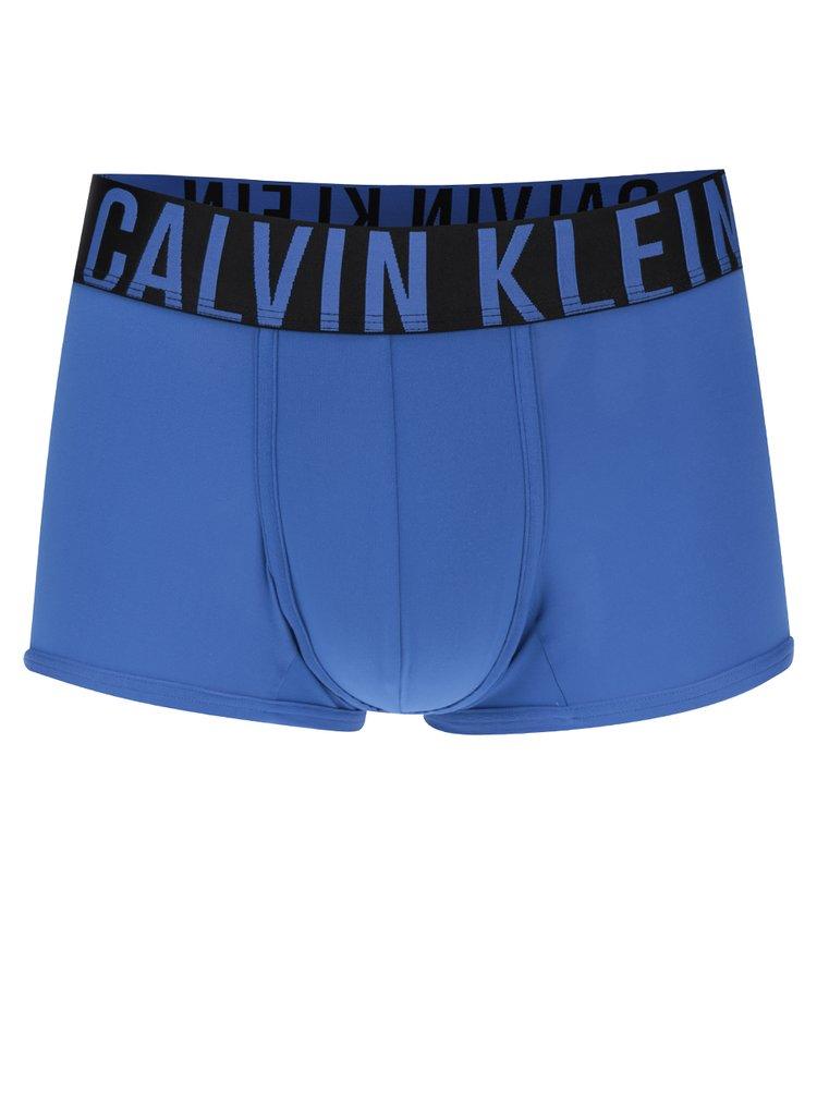 Boxeri albastri cu print logo Calvin Klein