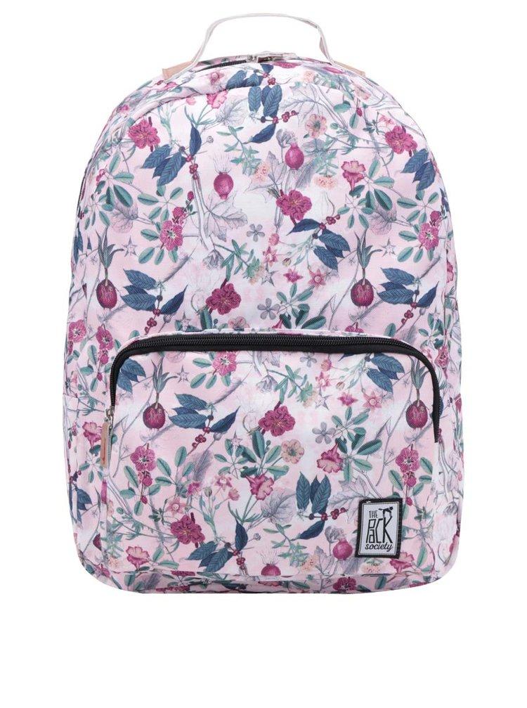 Rucsac roz The Pack Society 18 l cu imprimeu floral