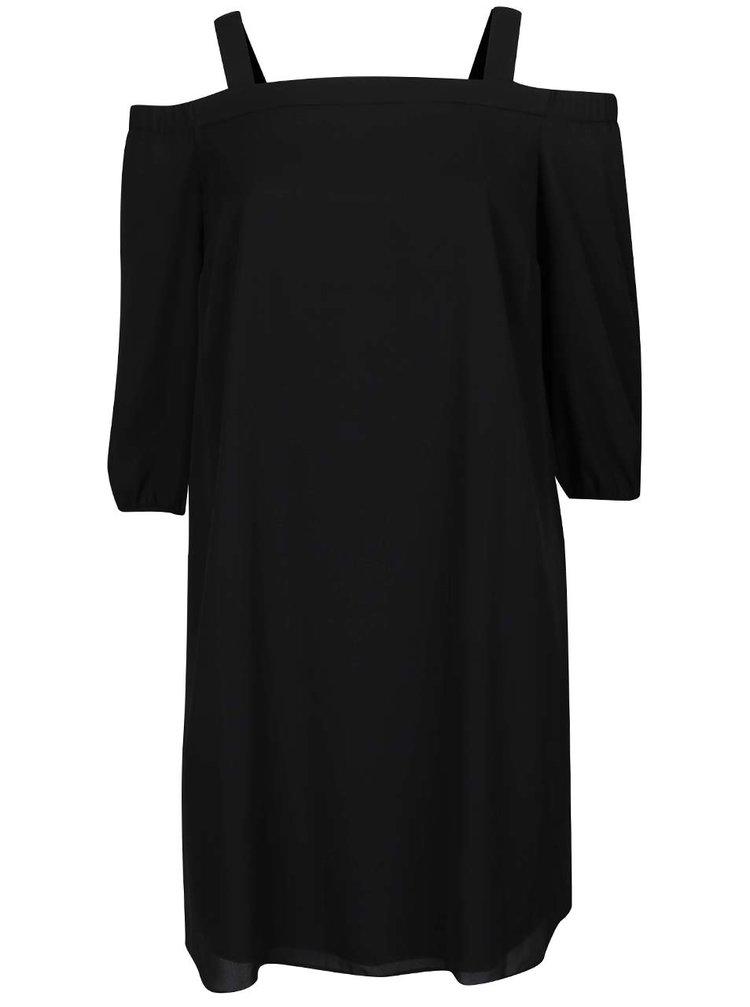 Černé šaty s odhalenými rameny Dorothy Perkins Curve