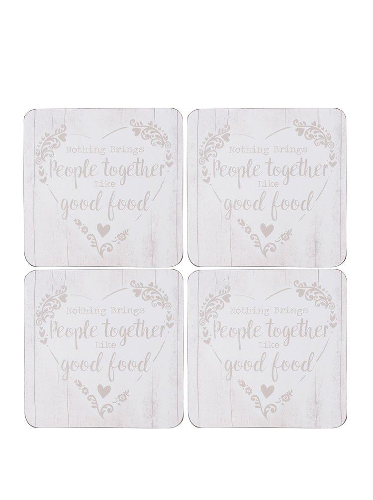 Set crem de 4 suporturi 10 x 10 cm pentru masă Cooksmart cu print