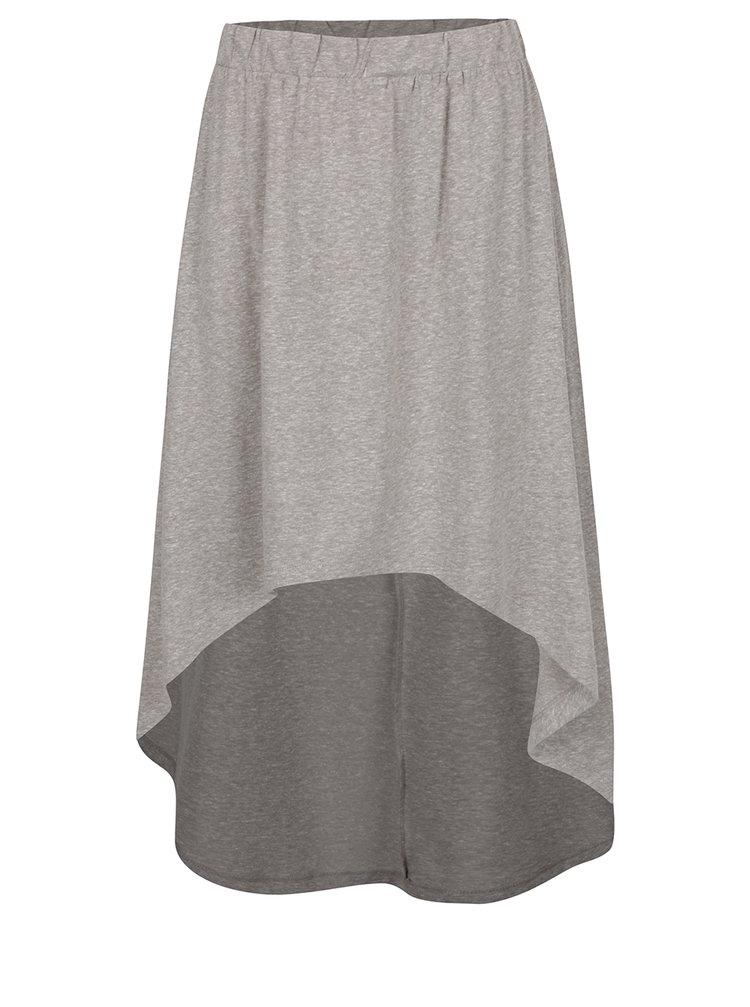 Šedá žíhaná sukně s prodlouženým zadním dílem Noisy May Julian