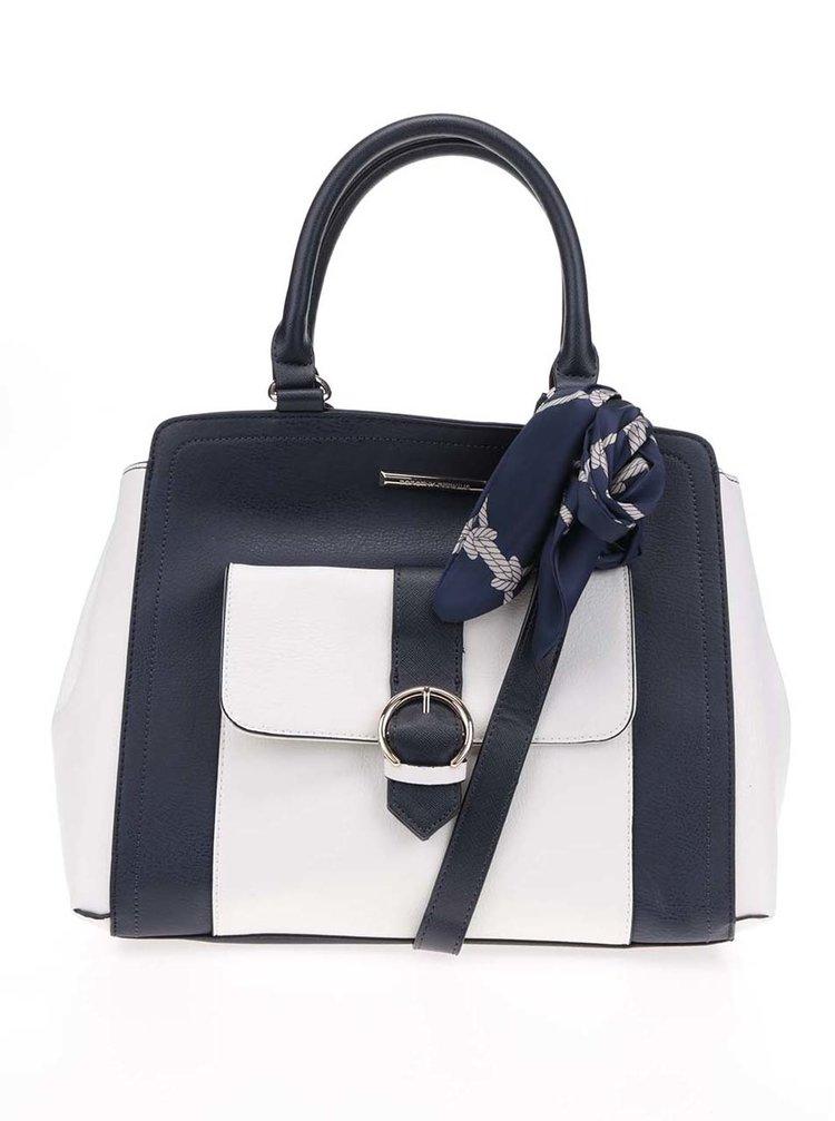 Tmavě modrá kabelka s šátkem Dorothy Perkins