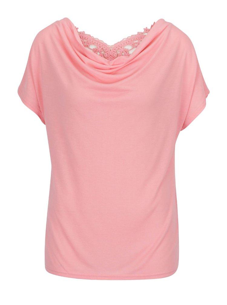 Růžové tričko s krajkou na zádech ONLY Miffy