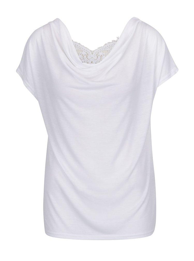 Bílé tričko s krajkou na zádech ONLY Miffy