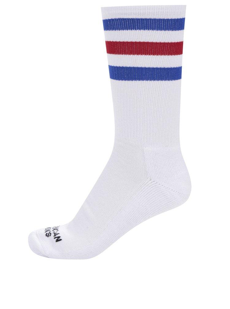 Șosete albe retro American Socks Pride I cu dungi