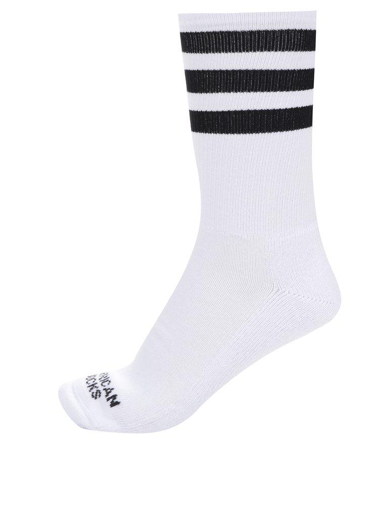 Șosete unisex albe cu dungi American Socks Old school II.