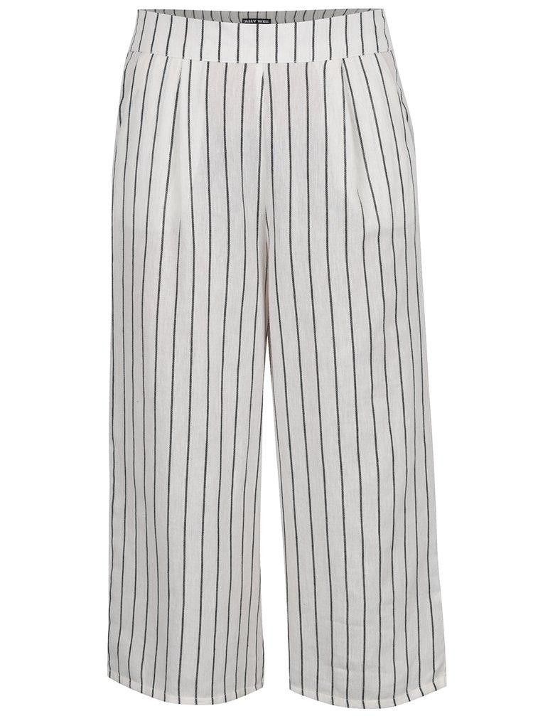 Pantaloni crem TALLY WEiJL  cu model în dungi