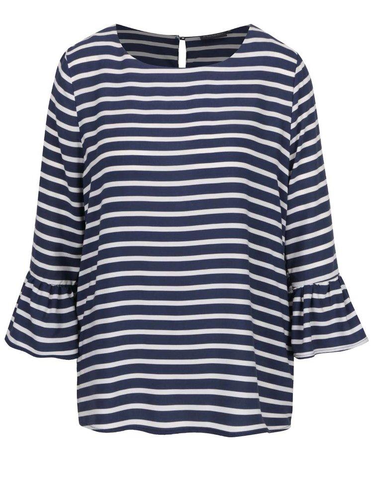 Bluză albastră  Broadway Fifi cu model în dungi