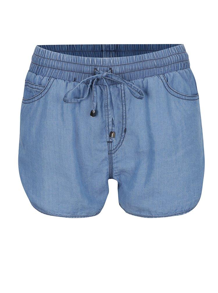 Pantaloni scurti albastri Haily's Diana cu talie elastica