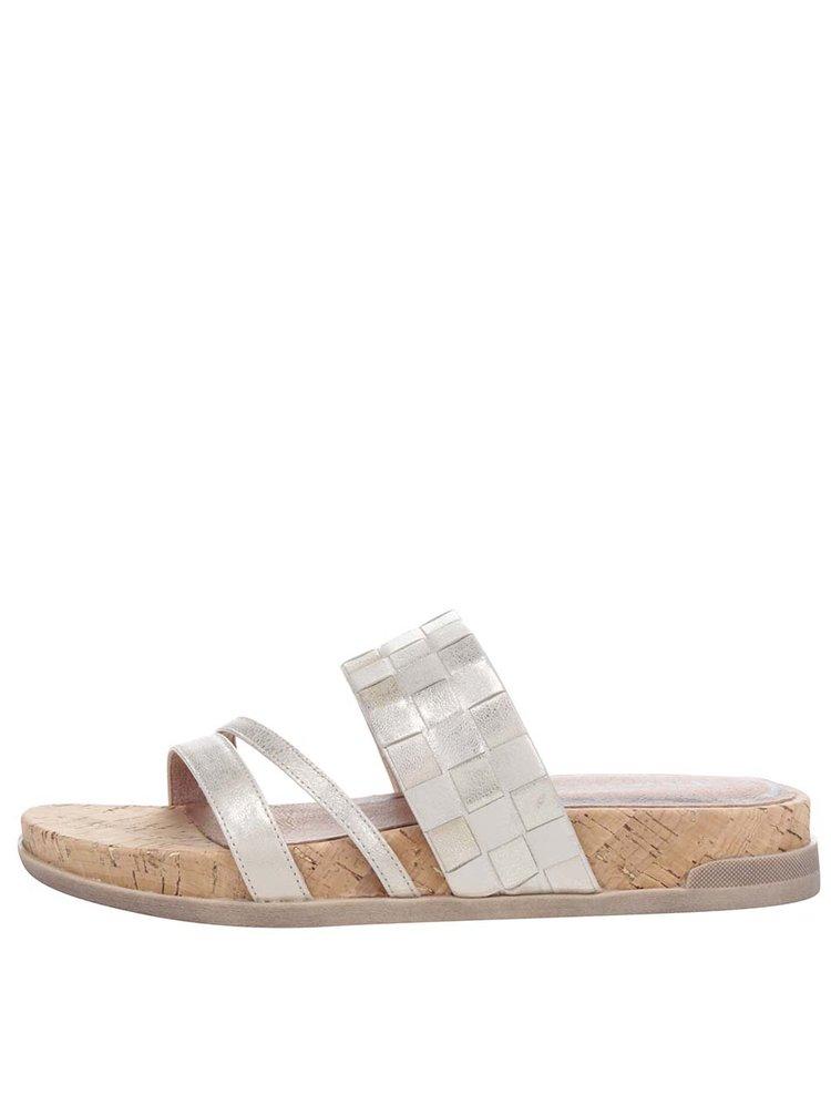Papuci aurii Tamaris din piele