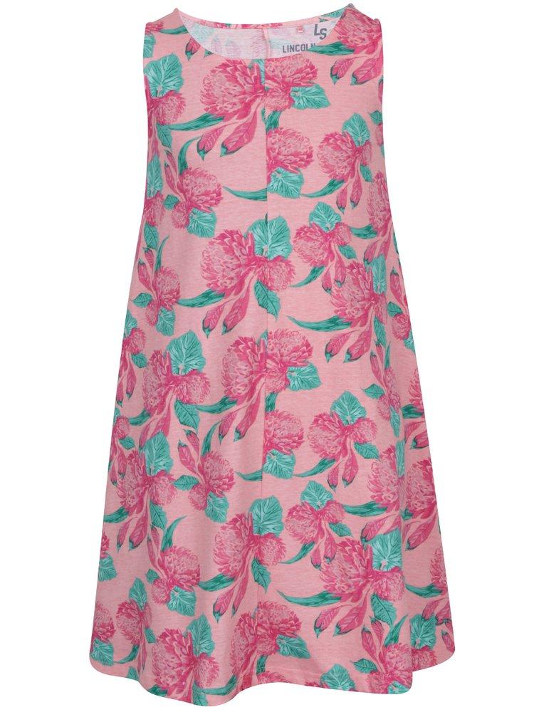 Růžové holčičí květované šaty 5.10.15.