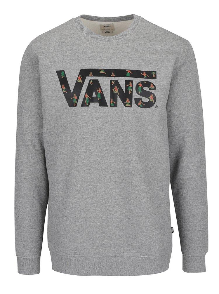 Bluza sport gri cu logo pentru barbati - VANS