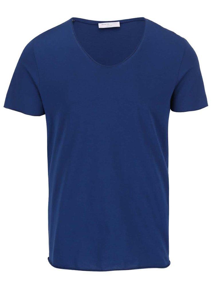 Modré tričko Selected Homme Merce