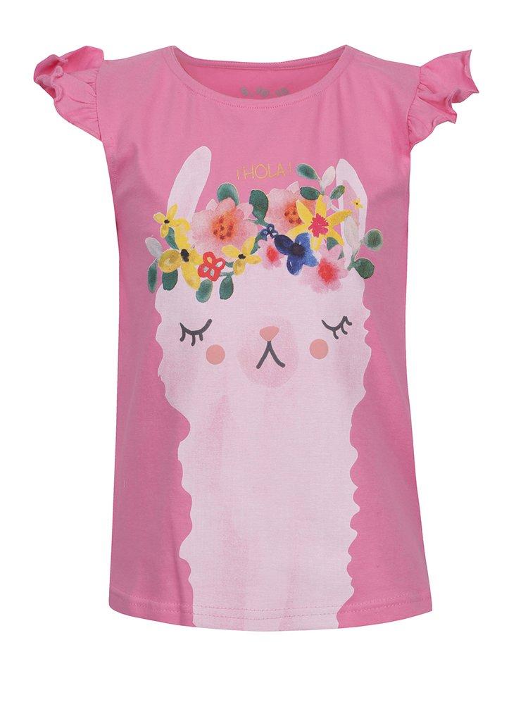 Tricou roz 5.10.15 cu imprimeu pentru fete