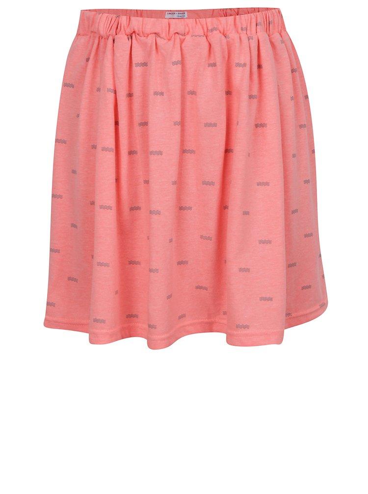 Růžová holčičí sukně s potiskem 5.10.15.