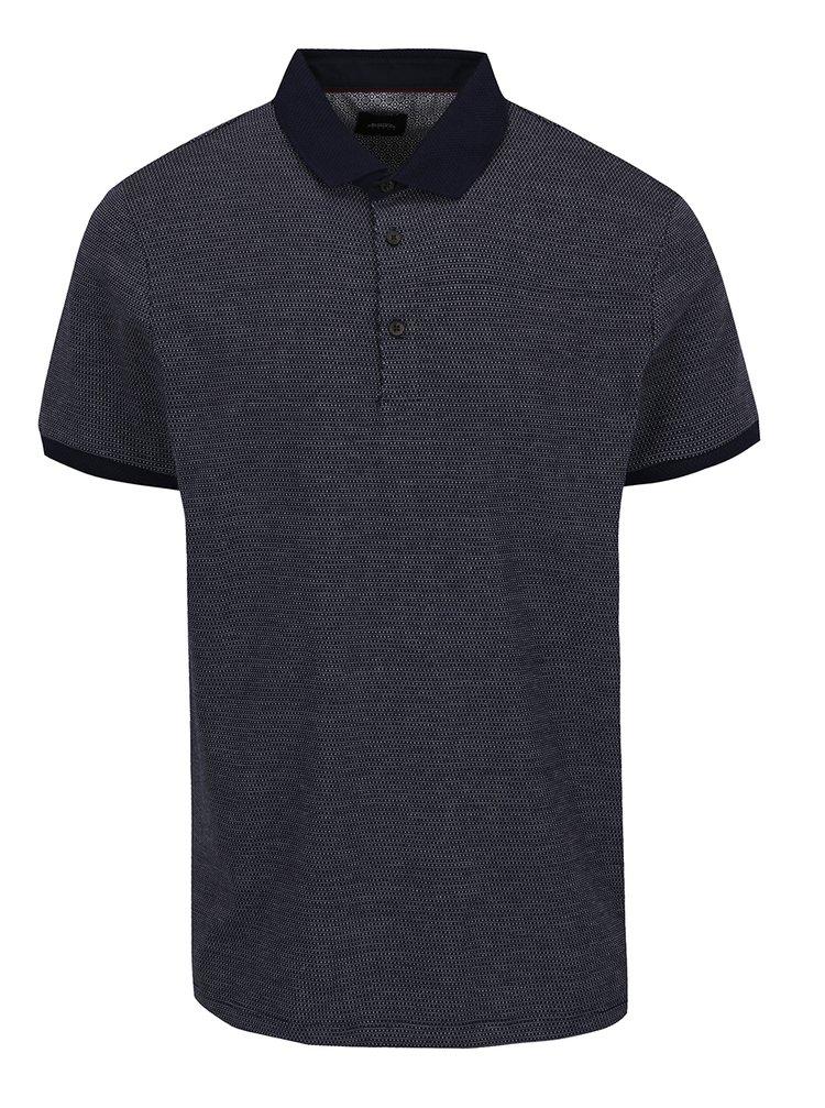 Tricou polo bleumarin Burton Menswear London cu model discret