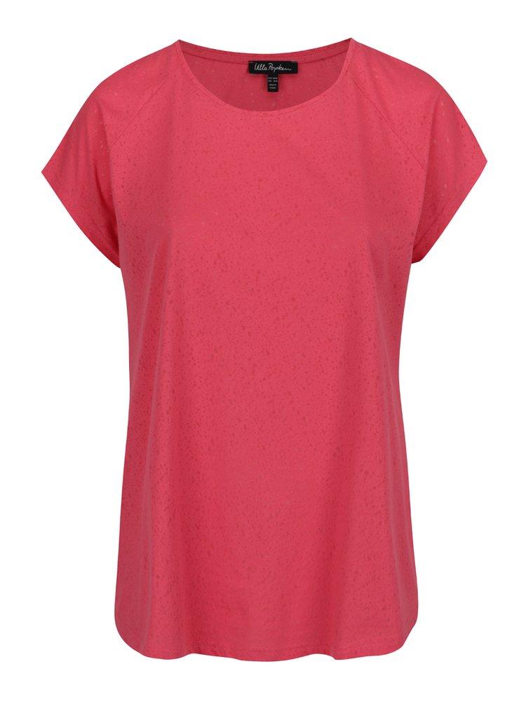 Červené vzorované oversize tričko Ulla Popken