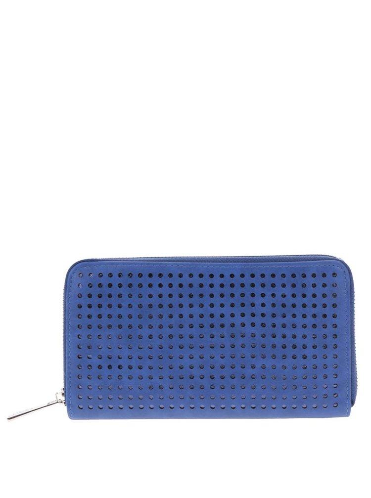 Portofel albastru Nalí  cu model cu perforații